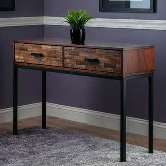 Winsome Wood Jefferson Console Table with Mosaic Drawers, Nutmeg Finish