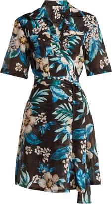 Diane von Furstenberg Floral-print cotton and silk-blend wrap dress