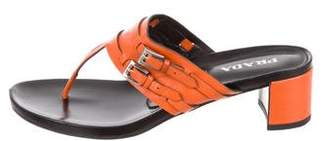 Prada Leather Thong Sandals