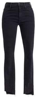 Mother Stunner High-Rise Zip Ankle Step-Hem Jeans