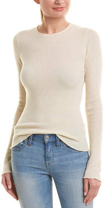 Vince Ribbed Cashmere Top