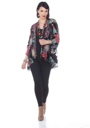 Aris A Floral Silk Cardigan