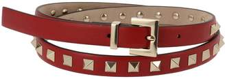 Valentino GARAVANI Belt Rockstud 1.5 Cm Wide Belt With Multi Metal Studs