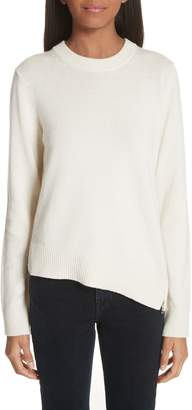 Proenza Schouler Asymmetrical Zip Detail Wool, Silk & Cashmere Sweater