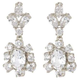 Marchesa CZ Double Drop Statement Earrings