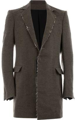 Cedric Jacquemyn raw hem single-breasted coat
