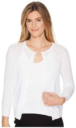Elliott Lauren Cardigan Sweater with Sequin Placket Front Women's Sweater