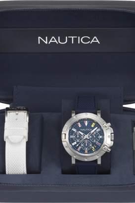 Nautica Mens Porthole Flag Box Set Chronograph Watch NAPPRH007