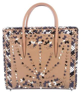 Christian Louboutin Large Paloma Mexinodo Beaded Tote
