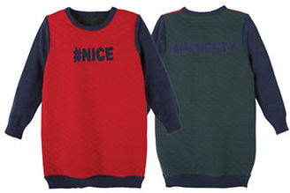 Andy & Evan Girls 2-6x Naughty and Nice Quilted Knit Reversible Tunic $49 thestylecure.com