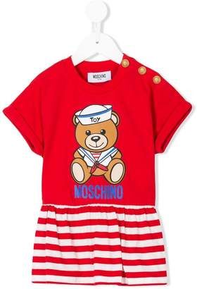 Moschino Kids teddy striped peplum top