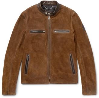 Belstaff Landrake Leather-Trimmed Suede Blouson Jacket $1,895 thestylecure.com