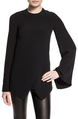 Ralph Lauren Collection Mulberry Silk Cady Long-Sleeve Top, Black $1,650 thestylecure.com