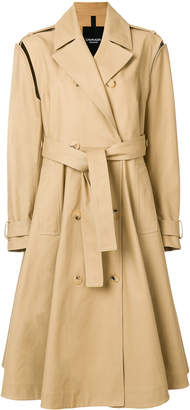 Calvin Klein Removable sleeves trench coat