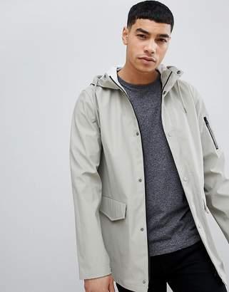 New Look Rain Jacket In Stone