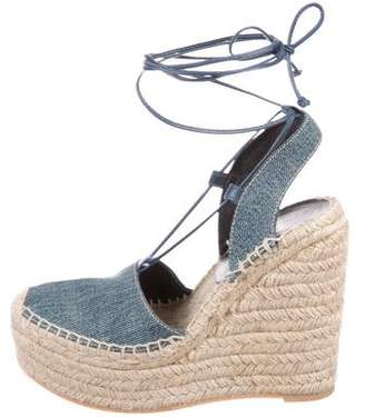 Saint Laurent Platform Espadrille Wedges