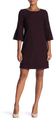 Max Studio 3/4 Bell Sleeve Jacquard Dress