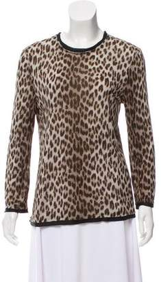 Lanvin Animal Print Long Sleeve Top