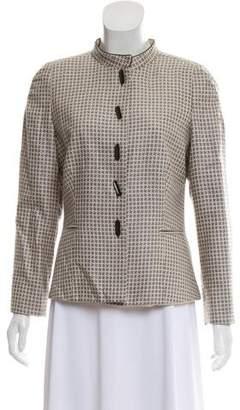 Giorgio Armani Patterned Structured Jacket