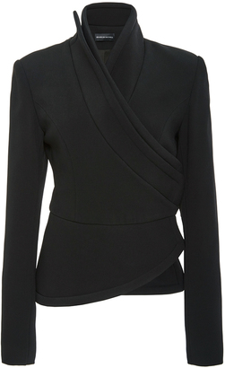 Brandon Maxwell Suiting Cady Wrap Jacket $2,385 thestylecure.com