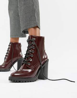 Asos Design DESIGN Elm Chunky Lace Up Boots