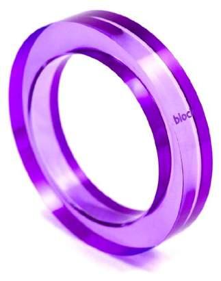 Block Acrylic Purple Bangle of Diameter 9cm