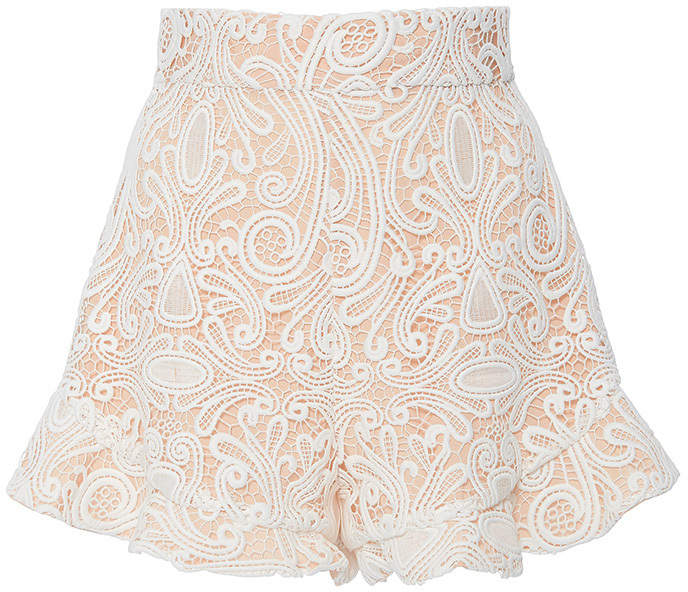 AlexisAlexis Barron Ruffled Lace Shorts