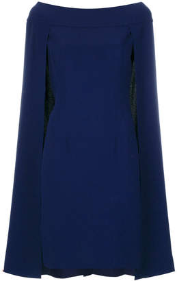 Alberta Ferretti cape flared dress