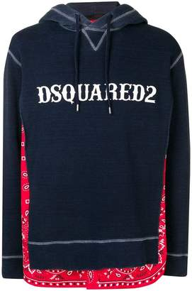 DSQUARED2 bandana layer hoodie