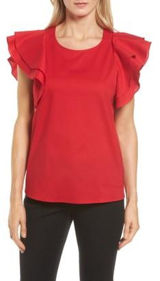 Women's Pleione Double Ruffle Sleeve Blouse $59 thestylecure.com