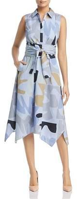Lafayette 148 New York Cordelia Printed Midi Shirt Dress