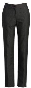 Emporio Armani Women's Birdseye Zip-Front Pants - Size 38 (2)