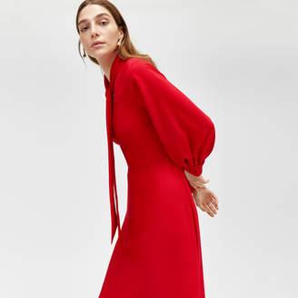 Warehouse Pussybow Maxi Dress