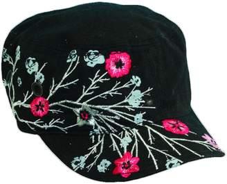 Dorfman Pacific HC143-BLK Fashion Cadet Military Style Hat for Women