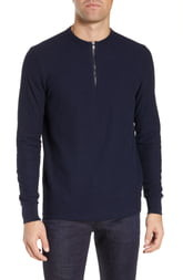 BOSS Textor Regular Fit Quarter Zip Thermal T-Shirt
