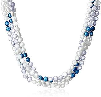 6-7mm Dyed Pink Baroque Freshwater Cultured Pearl Endless Necklace