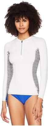 O'Neill Long Sleeve Rashguard Front Zipper Women's Swimwear