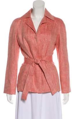Lanvin Collarless Long Sleeve Jacket