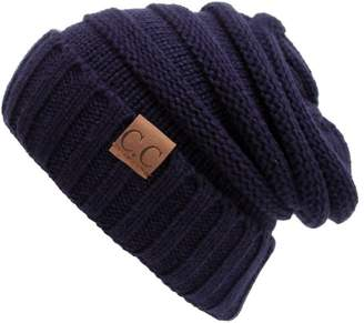 808b63824b40f AIJIAO Winter Hats Women Cap Crochet Knit Thermal Slouchy Beanie Hat   Rust  Red