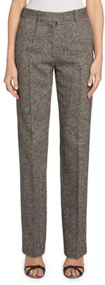 Victoria Beckham Straight-Leg Donegal Tweed Trousers