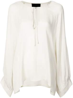 Nili Lotan floaty tie neck blouse