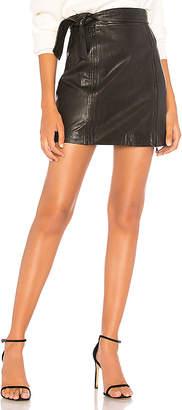 J Brand Christa Zip Mini Skirt