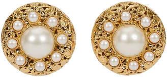 One Kings Lane Vintage 1960s Chanel Filigree Pearl Earrings