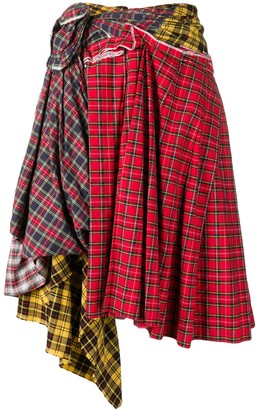 Comme des Garcons Pre-Owned deconstructed plaid skirt