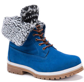 Muk Luks Womens Megan Winter Boots Water Resistant Lace-up