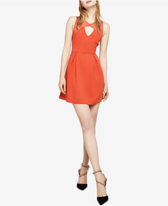 BCBGeneration Mixed-Media Pleated Dress