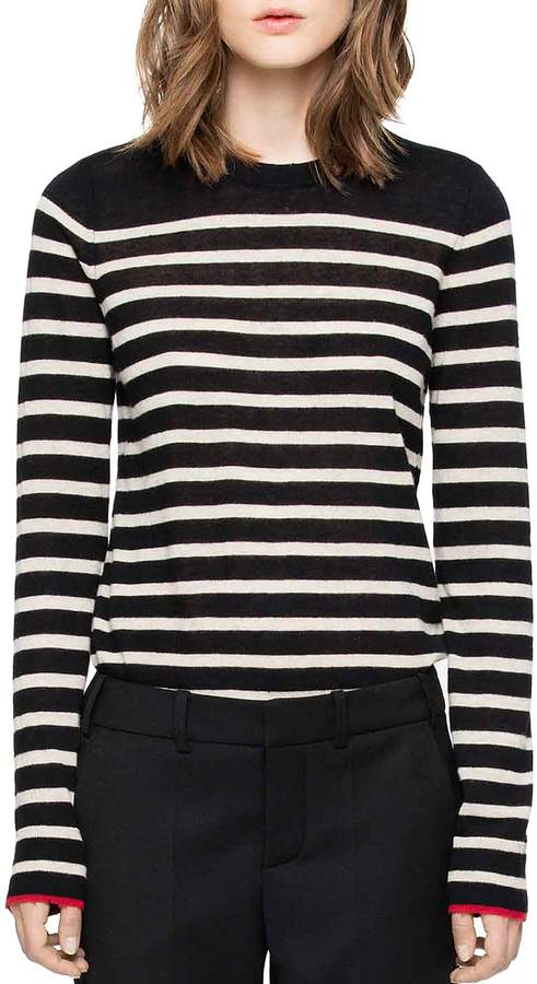 Zadig & Voltaire Miss Stripes Cashmere Sweater