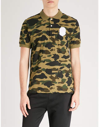 A Bathing Ape Camouflage-print cotton-piqué polo top
