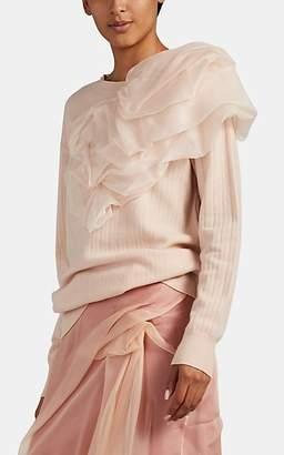 Sies Marjan Women's Awa Silk-Detailed Wool-Cashmere Sweater - Pink