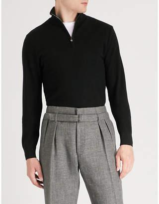 Ralph Lauren Purple Label Stand collar wool and cashmere-blend sweatshirt